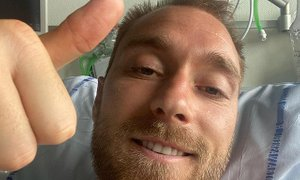 Eriksena po operaciji že odpustili iz bolnišnice