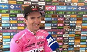 Zakarin dobil težko gorsko etapo, Polanc ostaja v rožnatem, Roglič pa drugi