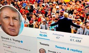 Twitter dodal opomnike k Trumpovim zapisom. Ta sedaj grozi z zaprtjem družbenih ...