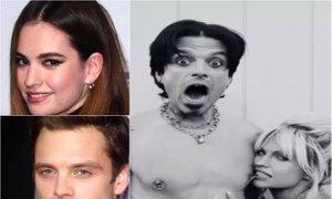 Osupljiva podobnost: Lily James in Sebastian Stan kot Pamela in Tommy