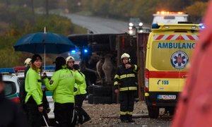 V nesreči avtobusa na Slovaškem 12 mrtvih