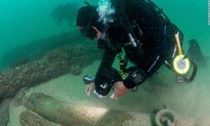 Ob portugalski obali našli razbitine 400 let stare ladje