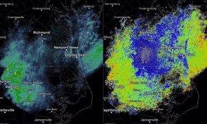 Nenavaden oblak nad tremi zveznimi državami begal ameriške vremenoslovce