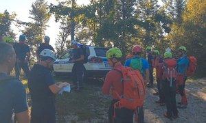 Reševalci na Idrijskem še vedno iščejo pogrešanega Italijana