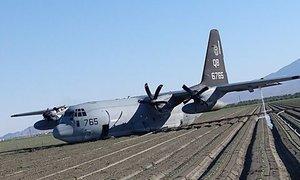 Med oskrbo z gorivom v zraku trčila KC-130J in F-35B