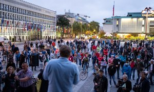 Petkovi kolesarji spet v središču Ljubljane. 'Čas je za ovadbo proti Janezu ...