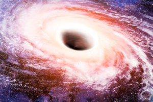 Izjemno odkritje: črna luknja vrti vesolje