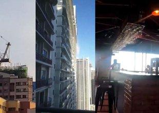 Močan potres na Filipinih: srhljivi posnetki majanja nebotičnikov