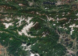 Gorenjski biseri na posnetkih iz vesolja