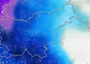 ANIMACIJA: Padavine se bodo razširile nad vso državo