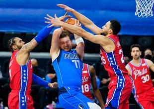 Simmons je v Filadelfiji ustavil Dončića za zmago domačih