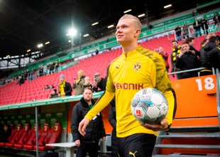 Preobrat Borussie: hat-trick Haalanda ob debiju v nemškem prvenstvu