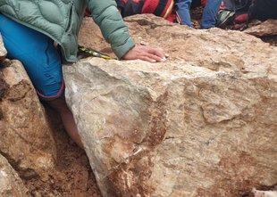 Reševalna akcija v težkih razmerah: planinki nogo stisnilo med skalo in steno