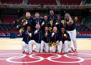 Ekipno zlato v judu Franciji, Riner osvojil peto olimpijsko medaljo