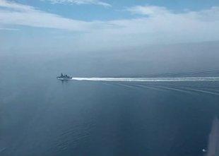 Rusi objavili posnetek britanske ladje, maskirovka je bila skoraj popolna