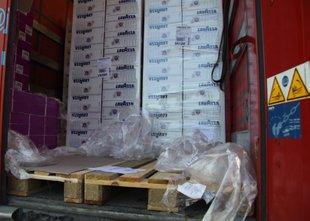 Iz romunskega tovornjaka ukradli za 20.000 evrov kave