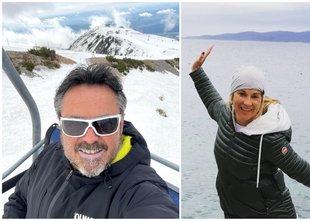 Nina Ivanič uživala na morju, Jernej Kuntner na belih strminah