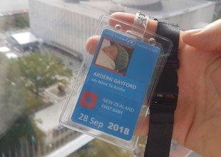 Novozelandska 'prva dojenčica' na zasedanju skupščine ZN