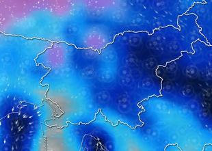 ANIMACIJA: Fronta prinaša občutno ohladitev, višje lege bo pobelil sneg