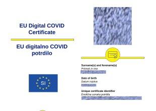 Digitalna covidna potrdila, natisnjena konec junija, ne bodo več veljavna