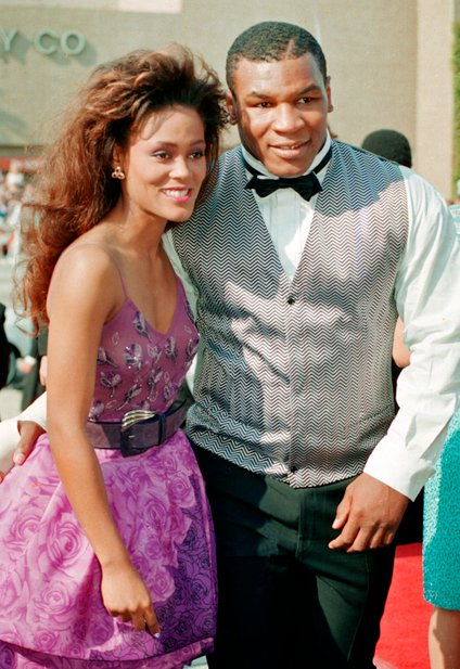 Mike Tyson in Robin Givens
