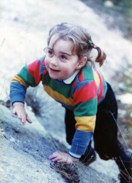 Kot otrok je bila izjemno navihana in radoživa.