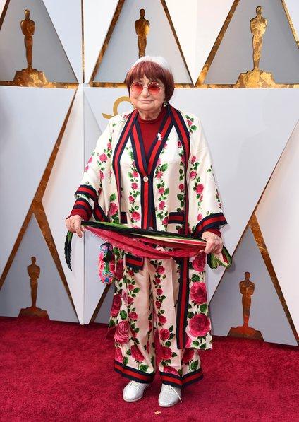 Agnès Varda na letošnji podelitvi oskarjev