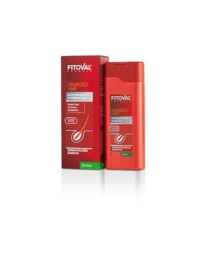 Dermatološki šampon za poškodovane in suhe lase Fitoval hitro, že v 7 dneh, obnovi površino poškodovanih las, jim vrne lesk in zgladi konice.