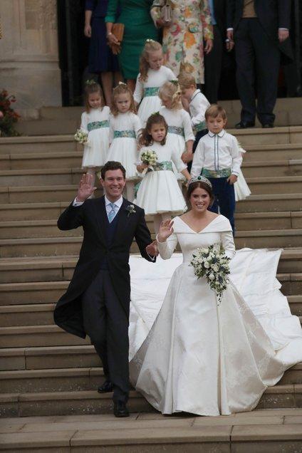 Princesa Eugenie z mladoporočencem in otroci
