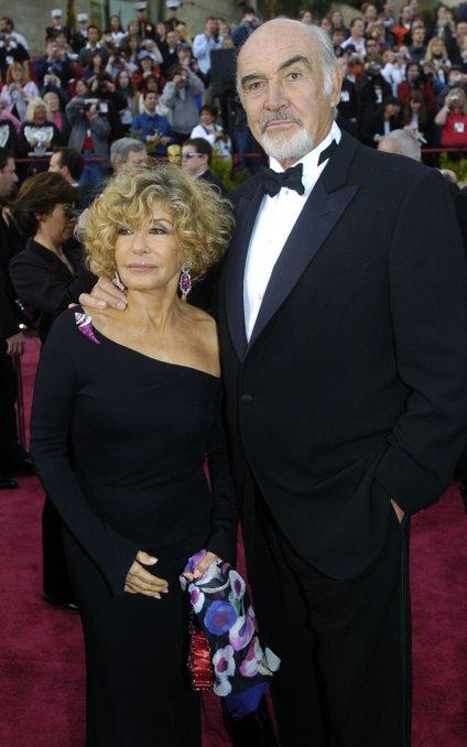 Sean Connery z ženo Micheline Roquebrune