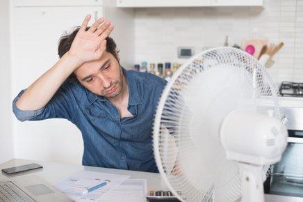 Če nimate klime, je ventilator zelo priročen.