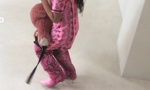 5-letna hči Kim Kardashian že v visokih petah