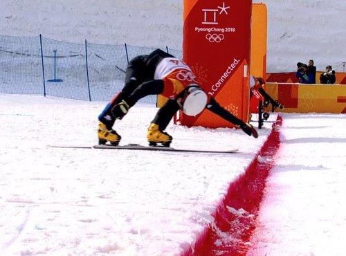 Fotofiniš polfinalne vožnje Žana Koširja