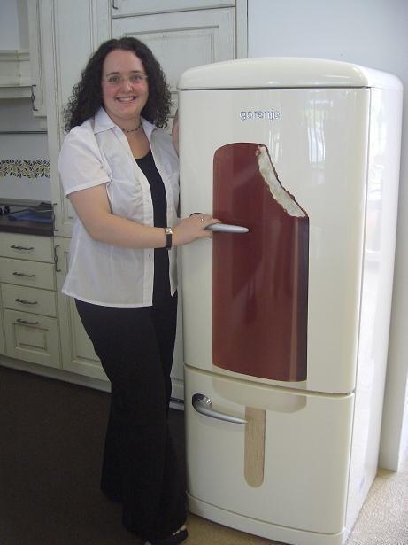 Lučkin hladilnik za novo kuhinjo