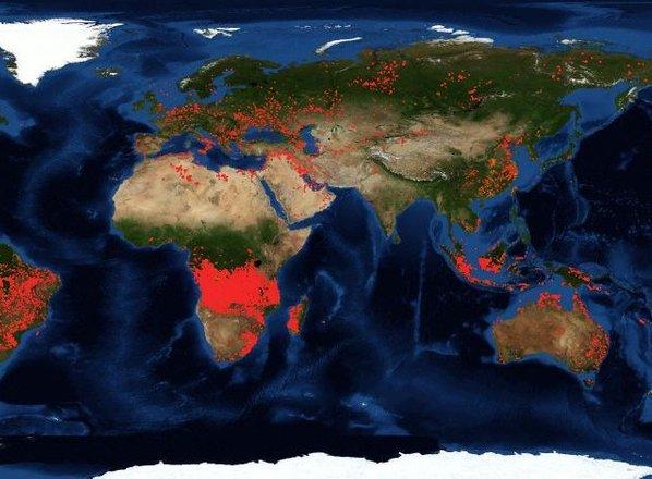 Ne gori samo Amazonija, požari tudi v Kongu, Sibiriji in na Aljaski