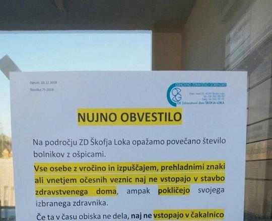 Na škofjeloškem več primerov ošpic, v sosednji Avstriji že skoraj 150 okuženih