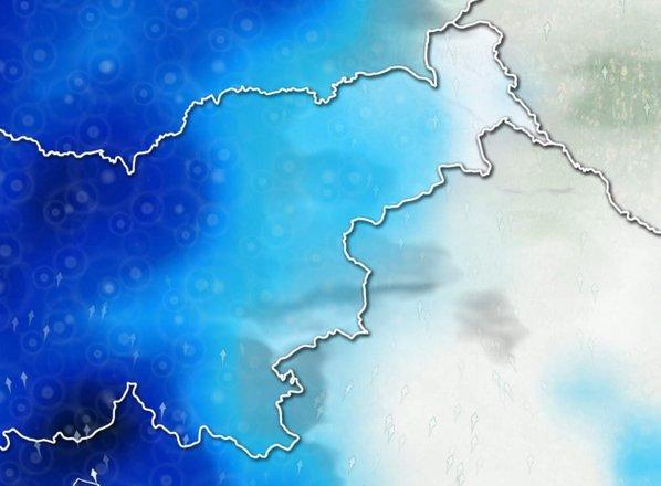 ANIMACIJA: Petek bo najbolj moker dan tega tedna, vmes bodo tudi nevihte z ...