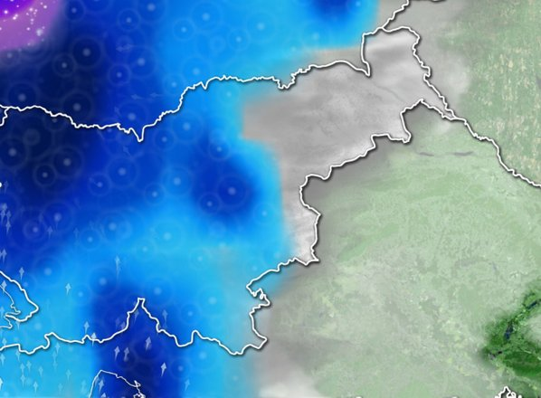 ANIMACIJA: Prihaja nova fronta s padavinami, sledilo bo daljše obdobje suhega ...