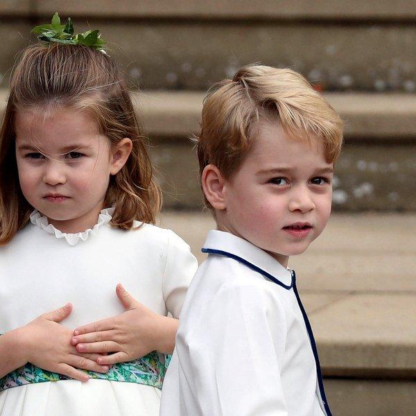 Tako George in Charlotte kličeta svojega očeta