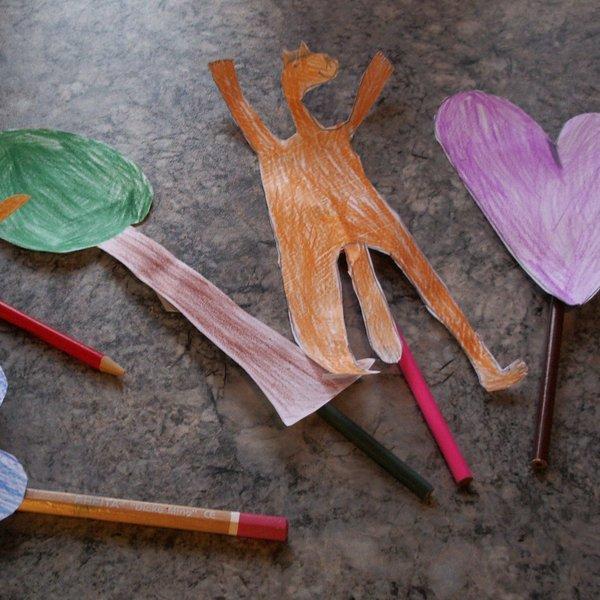 FOTO: Izdelajmo preproste lutke!