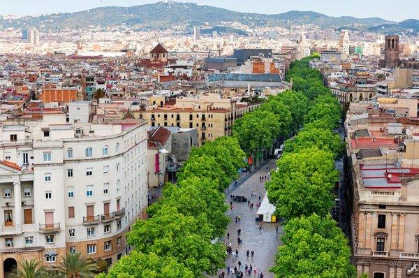 Ulica La Rambla v Barceloni