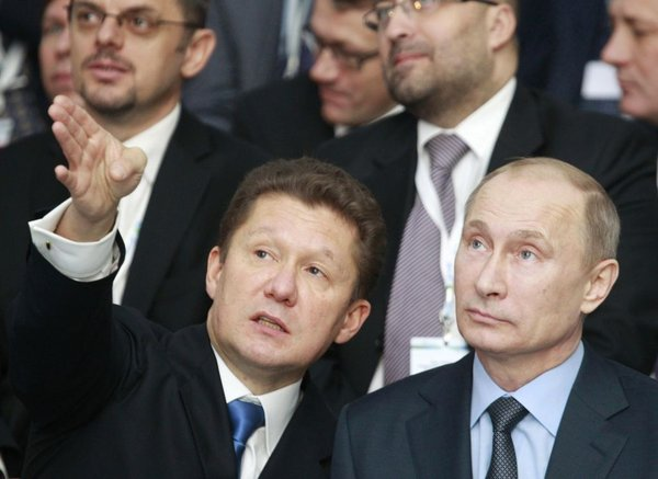 Aleksej Miller in Vladiir Putin