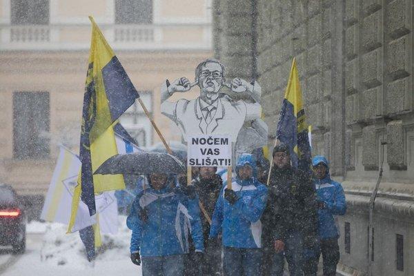 Stavka in protestni shod policistov - 2