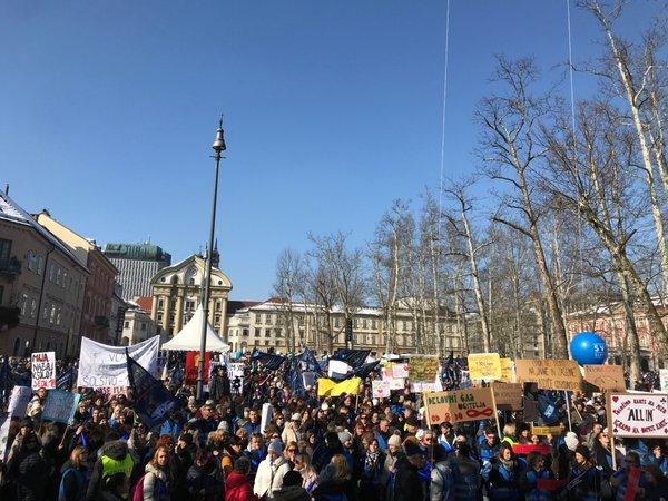 Protest na Kongresnem trgu