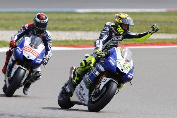 Jorge Lorenzo in Valentino Rossi