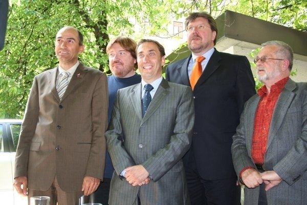Janez Janša, Ivan Borštner, David Tasič, Franci Zavrl in Igor Bavčar