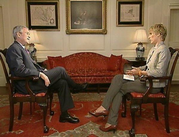 Nataša Briški in George Bush