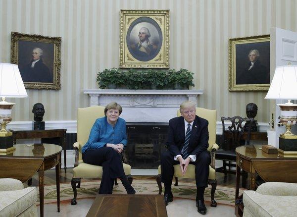 Trump in Merklova