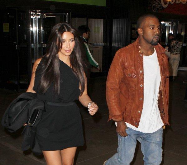Kim Kardashian in Kanye West