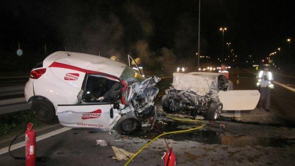 Prometna nesreča na ljubljanski obvoznici - 1
